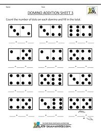 printable kindergarten math worksheets domino addition 3 | crafts ...