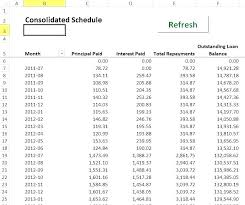 Loan Amortization Schedule Example Naveshop Co