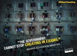 Image result for bihar exam cheating