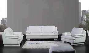 modern design 1 2 3 clic white sofa set cattle leather solid wood frame loveseat sofa ottoman and chair la352
