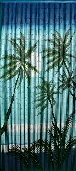 your bamboo door beads with tropical night scene is a colorful doorway curtain for any type of room that may benefit from a tropical touch of natur