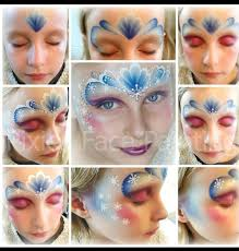step by step for face paint frozen design by jenny saunders