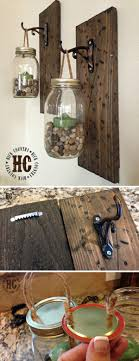Small Picture 20 DIYs for Your Rustic Home Decor Wall lantern Faux flowers
