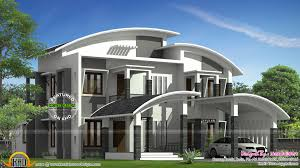 4 Bedroom Single Storey House Plans Kerala Beautiful Curved Roof House Plan  Kerala Home Design and Floor Plans