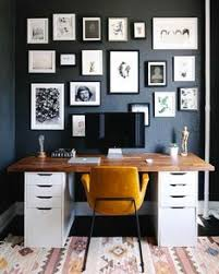 office at home design. It Doesn\u0026 Take Much To Fill Your Home With Tons Of Style\u0026 This Small  Apartment Space Is Proof That! This Office For Instance Uses A Bold Paint Color At Design O