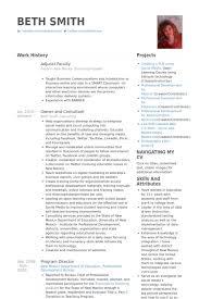 Adjunct Faculty Resume Samples - Visualcv Resume Samples Database for Adjunct  Professor Resume Sample