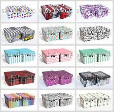 Decorative Storage Boxes For Closets Decorative Boxes Storage Organisers eBay 38