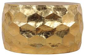 gemoratic hammered gold leaf metal coffee table contemporary coffee tables by horizon interseas inc