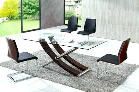 modern round glass kitchen table dining and leather chairs sets glass dining table sets toronto glass