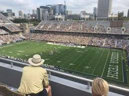 Bobby Dodd Stadium Section 202 Home Of Georgia Tech Yellow