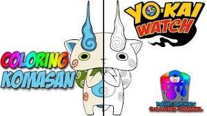 Komasan in yo kai watch. Yo Kai Watch Komasan Speed Coloring Yo Kai Watch Speedpaint Coloring Page For Kids Youtube