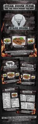 steak house flyer template by dadaelechso graphicriver steak house flyer template restaurant flyers