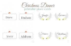 Dinner Name Card Template Place Name Card Template Hostingpremium Co