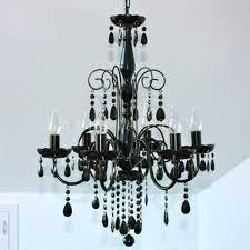 black chandelier light large black 6 light elegant crystal chandelier globes off 1024 1024 simple