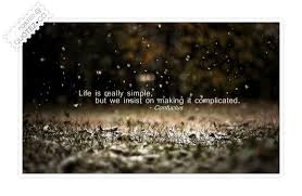 Life Is Really Simple Life Quote QUOTEZ○CO New Simple Life Quotes