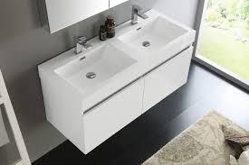 48 inch white bathroom vanity. Image Of: Fresca Mezzo 48 Inch White Wall Mounted Double Sink Bathroom Vanity Throughout