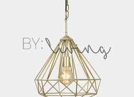 metal cage pendant light modern chandelier industrial gold diamond