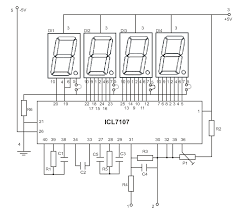 led display digital voltmeter electronics lab schematic