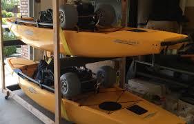 diy outdoor kayak storage rack