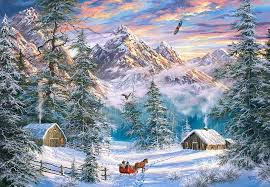 WINTER IN THE MOUNTAINS - Play Jigsaw Puzzle for free at Puzzle Factory