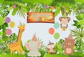 baby safari background. Perfect Baby Vinyl Background 1st Jungle Safari Birthday Party Animal Banner Decor  Children Custom Baby Shower Backdrop Photocall And A