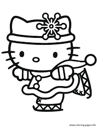 Small Picture hello kitty christmas ice skating Coloring pages Printable