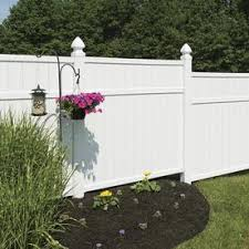 Vinyl fence Horizontal Freedom actual 566ft 545ft Preassembled Brighton Peerless Fence Vinyl Fence Panels At Lowescom