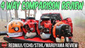 4 Way Lawn Care Blower Comparison Redmax 8500 Vs Stihl Br 700 Vs Echo 770t Vs Maruyama Bl9000