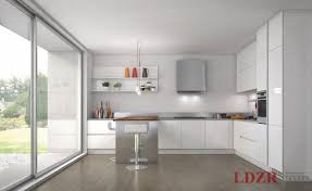 Modern White Cabinet Doors With Modern White Lacquer Glass Door - White modern kitchen