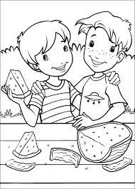 Kleurplaten En Zo Kleurplaat Van Lekker Watermeloen Eten
