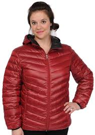 excelled hooded puffer packable jacket