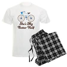 Quote Checker Fascinating She's My Better Half Quote Mens Bike Design Pajamas She's My