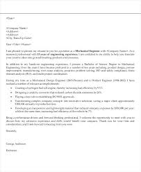 How To Write Cover Letter Sample Mechanical Engineer Application