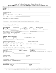 auto insurance quote sheet template
