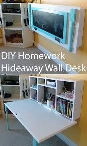 Diy kids room Toddler Diy Organizing Ideas For Kids Rooms Diy Kids Homework Hideaway Wall Desk Easy Storage Diy Joy 30 Diy Organizing Ideas For Kids Rooms