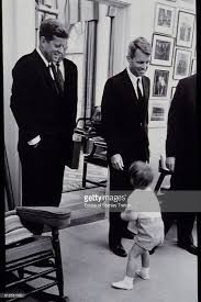 jfk years in office. John Jr. With His Father American President F. Kennedy, And Uncle Robert Jfk Years In Office O
