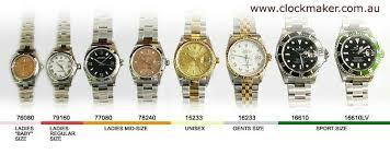 Watch Size Chart Panerai Straps Rolex Rolex Watches