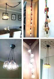 plug in hanging lamp copper custom cer pendant light ceiling fixture globes dipped glass bulbs hanging