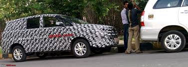 new car launches team bhpSCOOP 2016 Toyota Innova spotted testing in Bangalore More pics