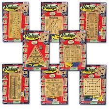Wooden Peg Games Vintage Toy Peg Game Set of 100 Classic Wooden Peg Games NIB Vintage 82
