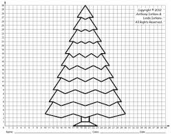 Christmas Tree Middle School Coordinate Drawing Graphing