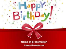 free happy birthday template animated birthday powerpoint templates free happy birthday bow