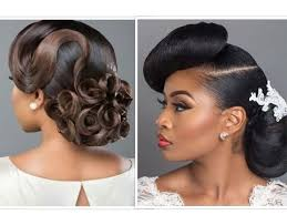 bridal hair with weave makeup for black beauties