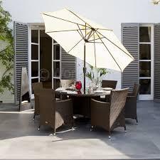amalfi 4 seater garden dining set with parasol. kingstone atlanta 6 seater round dining set sticker amalfi 4 garden with parasol
