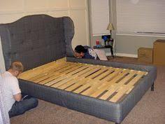 diy upholstered bed. DIY Full Upholstered Bed Frame Diy