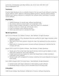 Resume Templates: Agile Developer