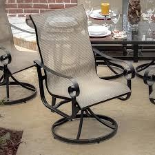 43 sling swivel rocker patio chairs woodard belden sling swivel dining chair outdoor dining timaylenphotography com
