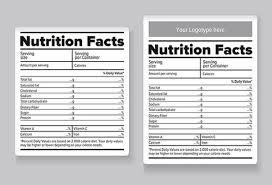 top secret reviews blank nutrition label