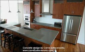 the counter is concrete de with quikrete countertop