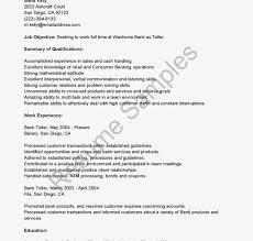 Bank Teller Job Description For Resume Bank Teller Resume